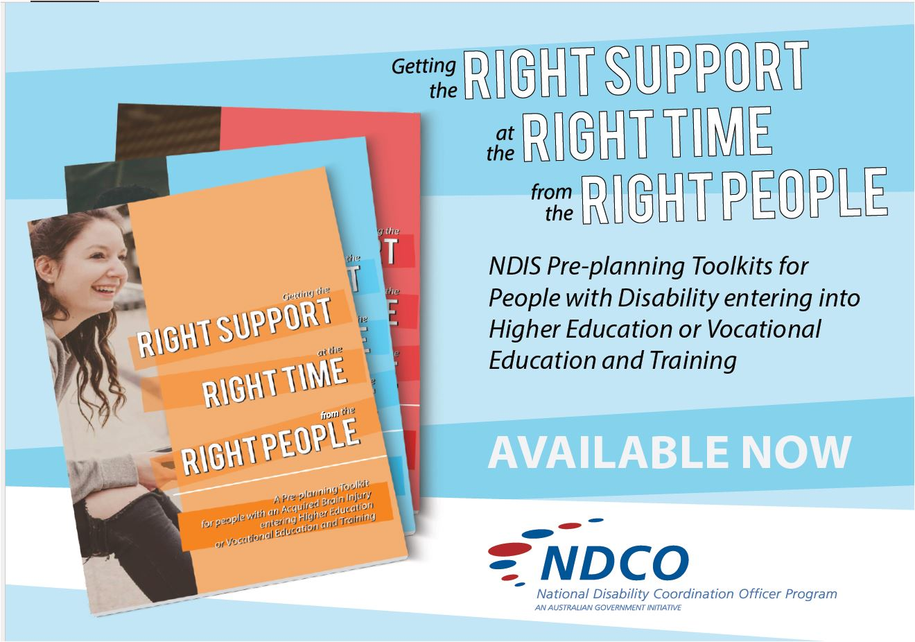NDIS Pre-planning toolkit postcard image